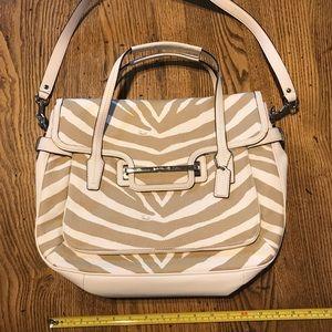 Canvas zebra purse